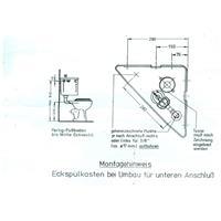 Jomo Eckspülkasten Eck Spülkasten für Wasseranschluss Anschluss von unten