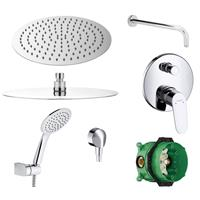 Hansgrohe Hans Grohe Focus Dusch Set Kopfbrause 300mm Brauseset chrom