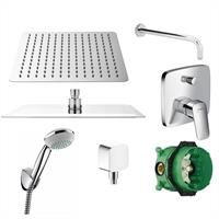 Hansgrohe Hans Grohe Logis Dusch Set Kopfbrause 300mm Brauseset chrom