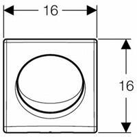 Geberit Vitra Urinal Set Duofix Basic Vorwandelement HyBasic Handauslöser Sieb