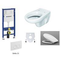 Geberit Duofix Delta 21 Universal Wand WC Set Picco Sitz Schallschutz komplett weiß