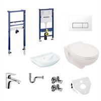 Geberit Grohe Duofix Basic WC + Waschtisch 65cm Set mit WC und Armatur Komplettset