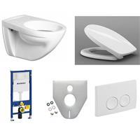 Keramag Wandflachspül WC Sitz softlose Geberit Duofix Basic Delta 21 Schallschutz