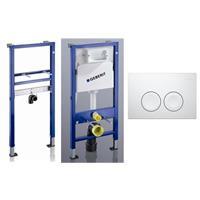Geberit Duofix Basic Spülkasten mit Delta 21 weiß und Waschtischelement mit Bausatz