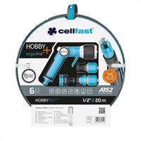 Cellfast Schlauchset HOBBY 20 Meter1/2 Zoll inkl. Verbinder und Pistolenbrause