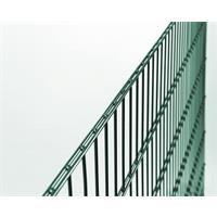 Doppelstab-Gittermatten-Grundset 1000mm, grün 6/5/6, 2m, Rundpfosten