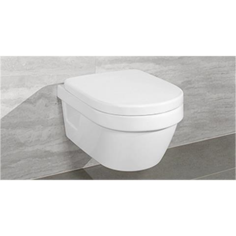 Villeroy & Boch Architectura Wandtiefspül-WC rund wasserrandlos inkl. WC-Sitz softclosing 5684HRR1