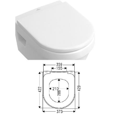 Villeroy & Boch Architectura WC-Sitz mit Deckel softclosing weiß