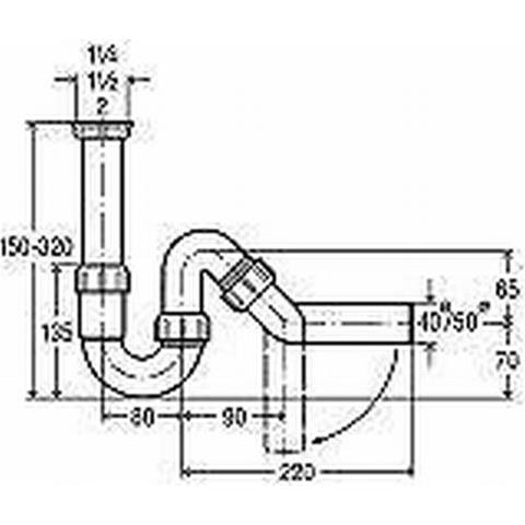 Viega Spülen-Röhrengeruchverschluß 1 1/2 x 40mm Nr. 101800