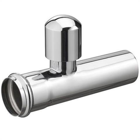 "Haas Sifon-Verlängerungsrohr mit Rohrbelüfter 11/4""x125mm chrom Nr. 2124"