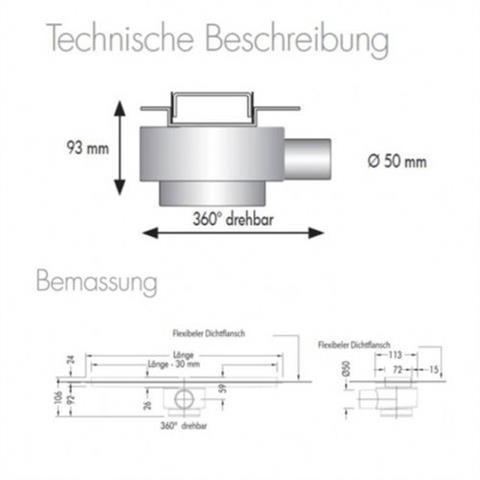 ESS Basic Drain Zero Duschablaufrinne 800mm edelstahl