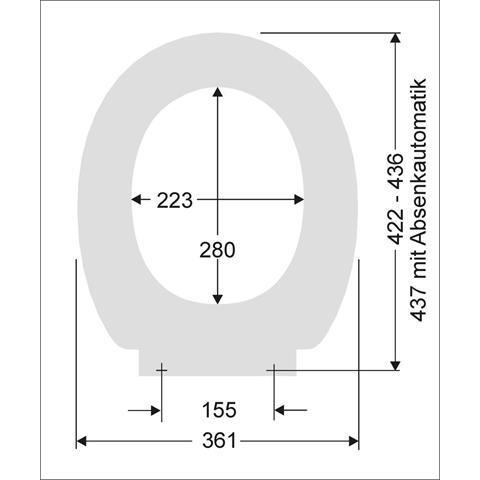 Pagette/Delphis Basic Plus WC-Sitz mit Deckel softclosing weiß