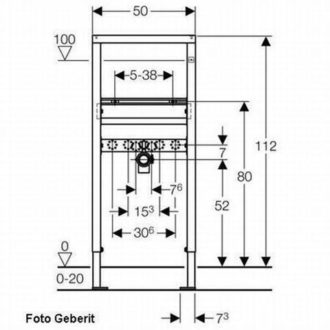 Geberit Duofix Basic Waschtisch-Montageelement mit Bausatz Nr. 458.404.00.1