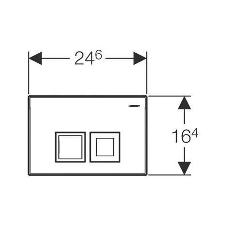 Geberit Delta50 WC-Betätigungsplatte weiß Nr. 115.135.11.1