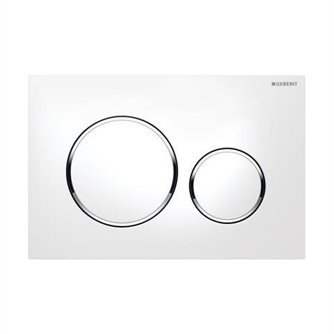 Geberit Sigma20 WC-Betätigungsplatte weiß/hochglanzchrom/weiß Nr. 115.882.KJ.1