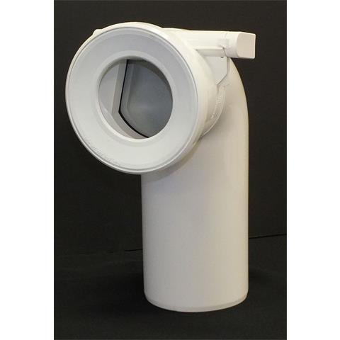 Viega WC-Bogen mit Rückstauklappe DN100 weiß Nr. 138882