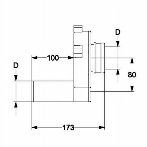 Haas Urinal-Absaugesifon DN50 waagerecht Nr. 6280
