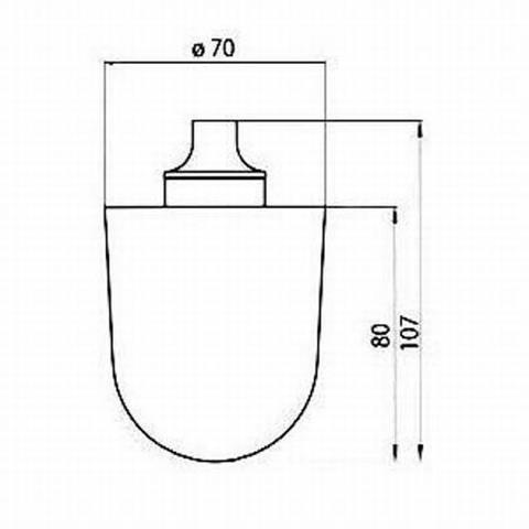 Emco WC-Bürstenkopf lose, Ø 70 x 107mm Nr. 101513990