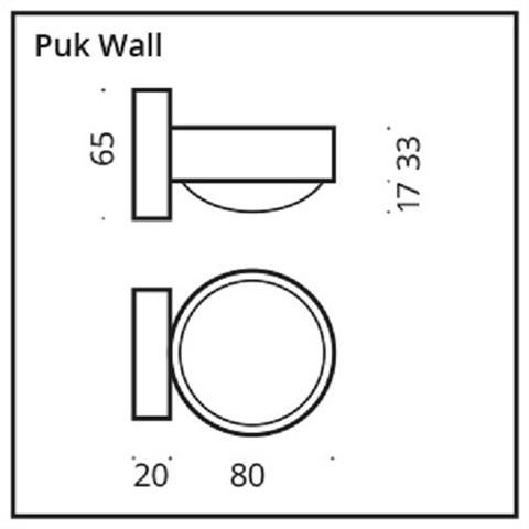 Top Light Puk Wall Wandleuchte Linse/Glas chrom