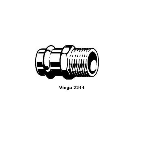 """Viega Sanpress Übergangsnippel 22x1"""" AG Nr. 287771"""