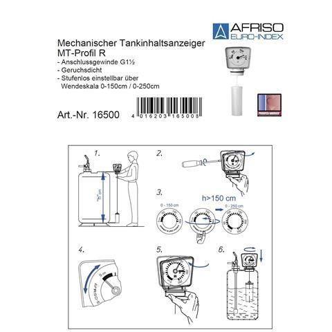 """Afriso Mechanischer Tankinhaltsanzeiger 1 1/2"""" Nr. AN16500"""