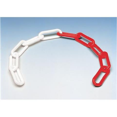 Kunststoff Absperrkette rot-weiß 8 mm UV-beständig 25 Meter