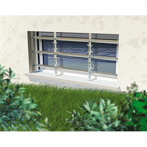 Fenstergitter Amsterdam ausziehbar - mit Sicherheitsschrauben