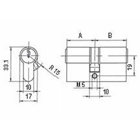 BKS Profilzylinder PZ 88 BL 27/45