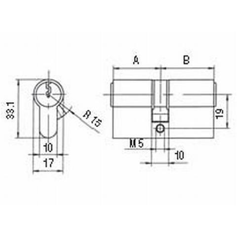 BKS Profilzylinder PZ 88 BL 27/55