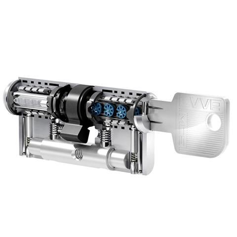EVVA Profilzylinder Magnet Code System BL 46-51 mit Gefahrenfunktion, gleichschließend