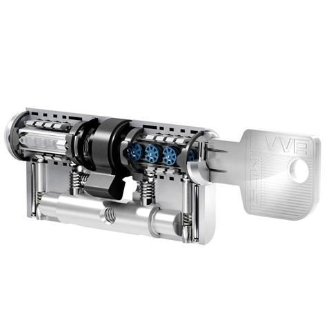 EVVA Profilzylinder Magnet Code System BL 56-61 mit Gefahrenfunktion, gleichschließend
