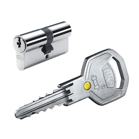 BKS Profilzylinder Helius 4212 BL31/35, inkl. je 3 Schlüssel - verschieden schließend