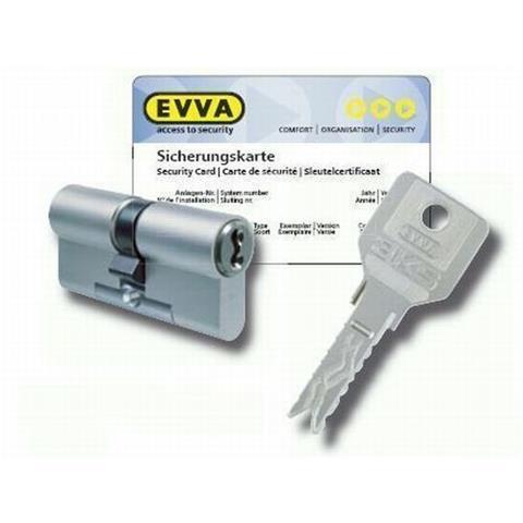 Halbzylinder EVVA 3KS plus Schließzylinder Sicherheitszylinder 3 Schlüssel,  Länge: -57