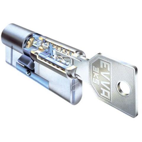 EVVA Profilzylinder 3KS plus -52 gleischschließend