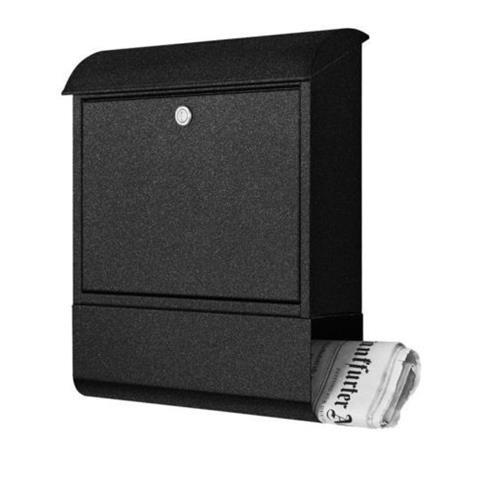 Heibi Briefkasten Grafitgrau mit Zeitungsfach 43802-039
