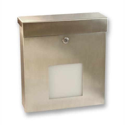 Edelstahl Briefkasten Knobloch Mailbox X Sondermodell Plexiglas Rechteckig