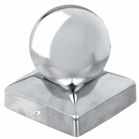Pfostenkappe Kugel, VA, 90x90 mm, GAH 205805