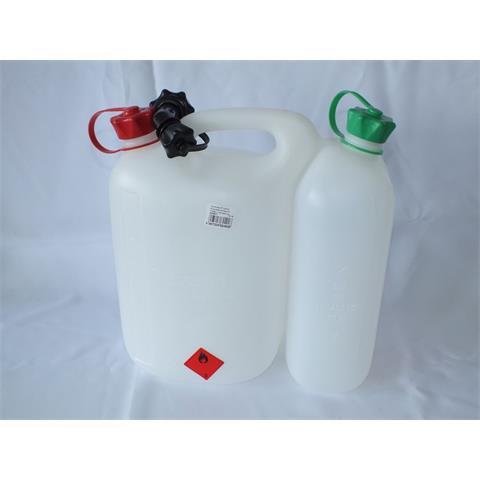 Kombi-Kanister ECO, natur-transparent, für 5 L Kraftstoff, 3 L Kettenöl