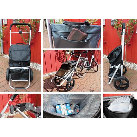 Fahrrad Trolley  mit Kupplung inkl. Kühlfach Einkaufswagen Einkaufstroll
