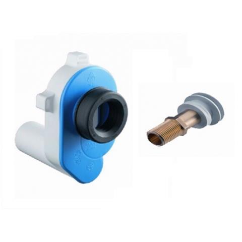 Haas Urinal Absaug Sifon mit Einlaufgarnitur Zulauf Absaugeformstück Set