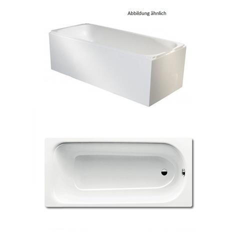 Kaldewei Badewanne Set mit Wannenträger 170x75cm und  Wannenprofil weiß
