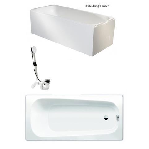 Kaldewei Badewanne mit Träger und Viega Ablauf 170x75cm weiß