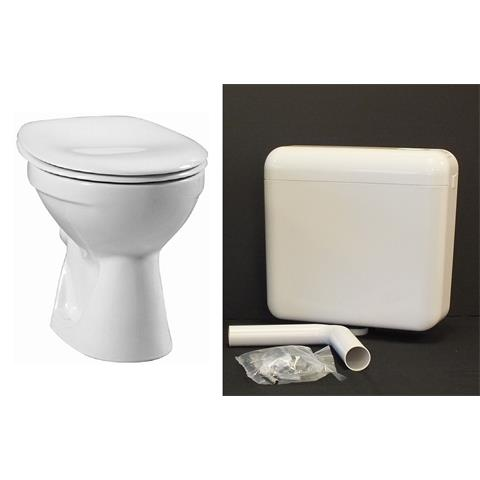 Keramag Delta Stand WC Tiefspüler Tiefspül Klo Toilette Spülkasten + Sitz