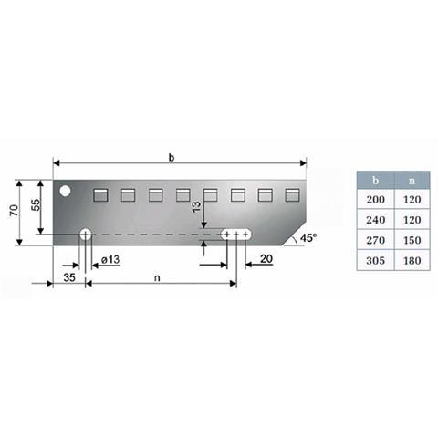 Einpress Treppenstufen 600x240 mm MW30x30 mm