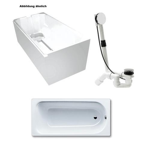kaldewei 3 5mm stahl badewanne wanne mit tr ger 170x75cm wei und viega ablauf m5 chrom. Black Bedroom Furniture Sets. Home Design Ideas