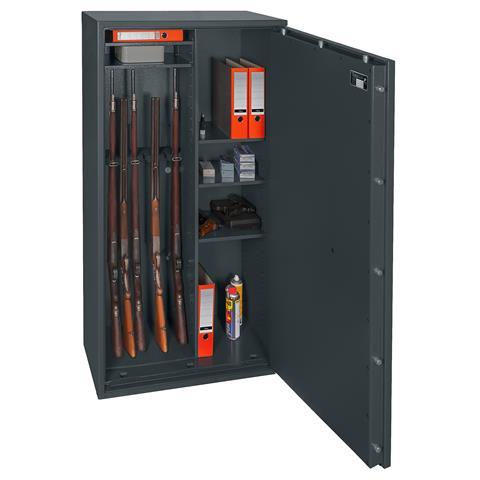 Waffenschrank Gun Safe 1 1-8C mit Doppelbart-Schloss und Regalteil