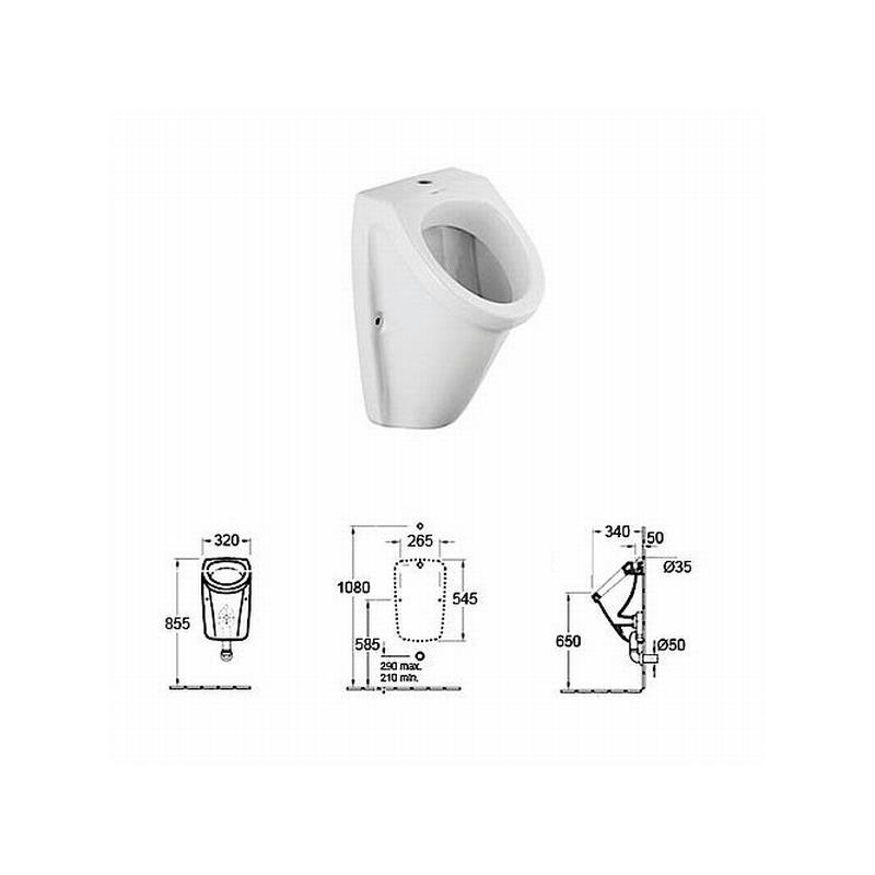 urinal mit beschichtung zulauf von oben ohne deckel wei. Black Bedroom Furniture Sets. Home Design Ideas