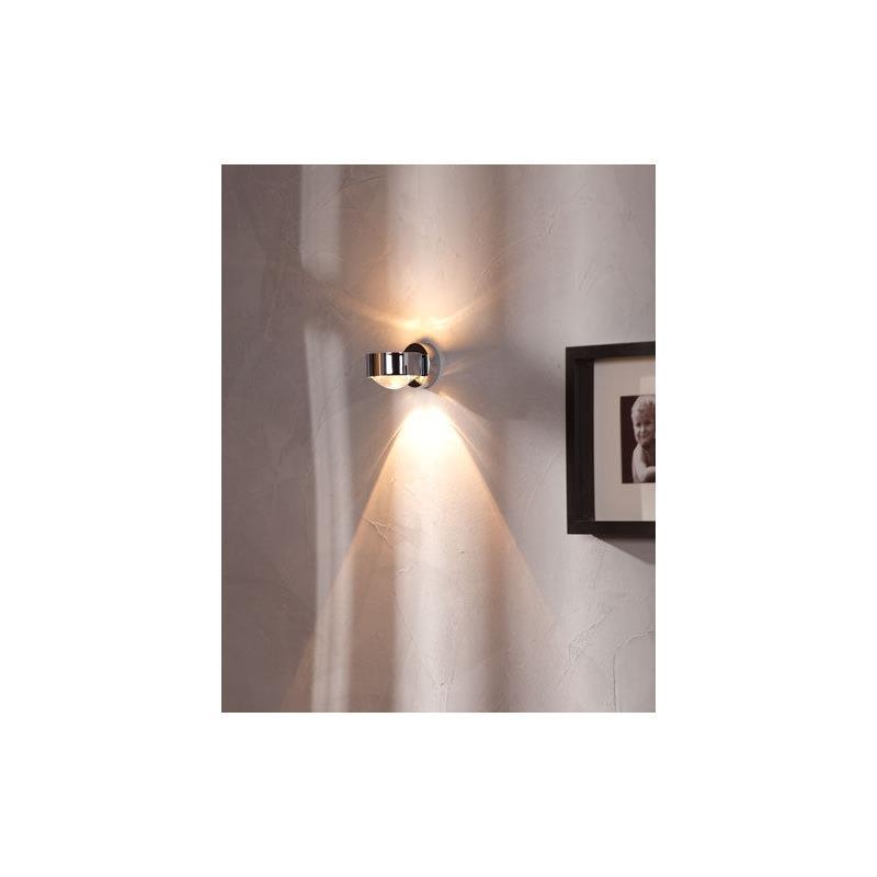 top light puk wall wandleuchte linse glas chrom. Black Bedroom Furniture Sets. Home Design Ideas