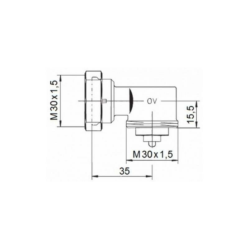 Oventrop Winkeladapter M30x1.5