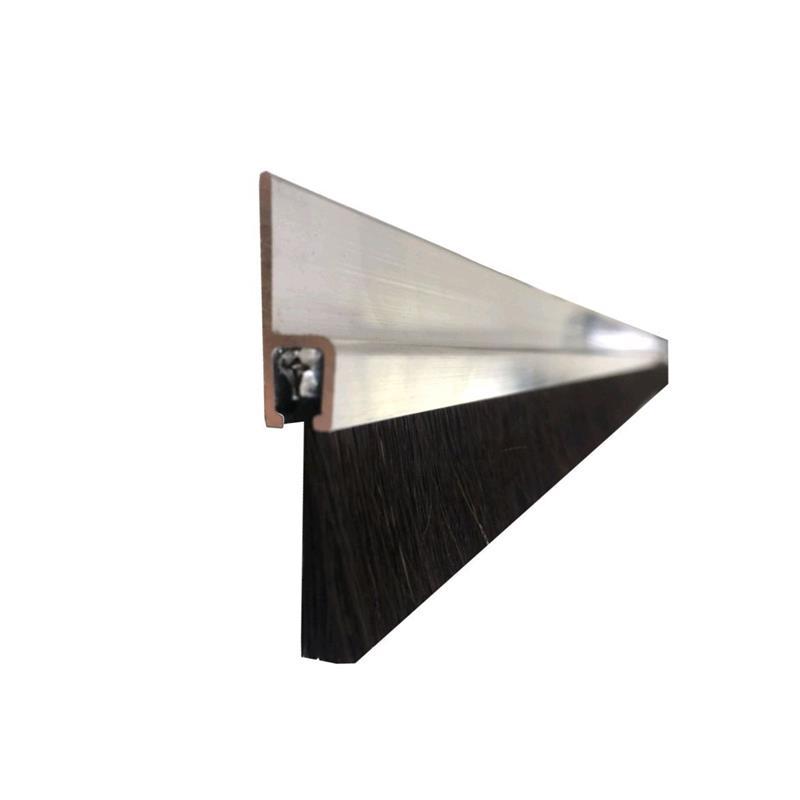 t rdichtung b rstendichtung 25 x 1200mm alu ro haar schwarz. Black Bedroom Furniture Sets. Home Design Ideas
